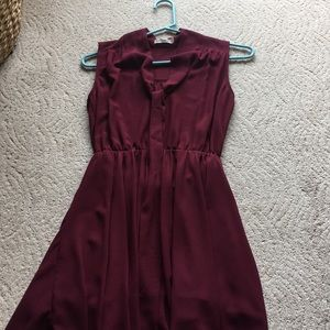 Maroon mini dress. Hazel brand